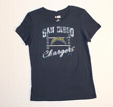 San Diego Chargers Football NFL Cap Sleeve T-shirt Women's Size L Color Blue