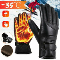 1 Pair Mens Heated Gloves Winter Outdoor Motorbike Motorcycle Warm