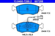 Bremsbelagsatz, Scheibenbremse für Bremsanlage Vorderachse ATE 13.0460-7288.2
