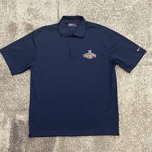 Nike Golf MLB New York Yankees 2009 World Series Baseball Polo Shirt Mens Large