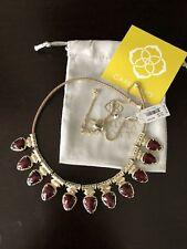 Kendra Scott Willow Necklace Burgundy Maroon NWT