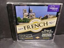 Learn French Now Transparent Language Version 8 Master Program Cd New B305