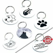 Personalised Pet Dog Name ID Tags For Collar Cute Custom Pet Tags- Engraved FREE