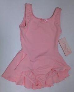 Natalie Dance Wear N8605c Child Size IC Pink Skirted Leotard Polyester Spandex