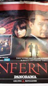 Locandina edicola-poster 80X90:Inferno Tom Hanks DVD EDIZ.PANORAMA