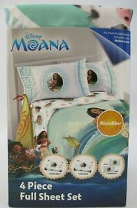 "Moana Full Size Sheet Set Dinsey Hey Hey Pua NEW NEVER OPENED! ""W"""