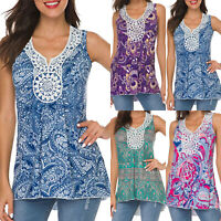 Womens Sleeveless Tank Top Vest Ladies Summer Casual V Neck Tee T Shirt Blouse