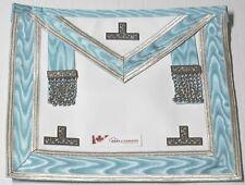Masonic Worshipful Master/Past Master Apron Silver Trim Sky blue