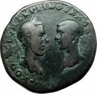 MACRINUS & DIADUMENIAN Authentic Ancient 217AD Roman Coin w NEMESIS i78994