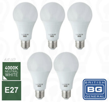 5 X BG Luceco Frosted LED E27 Screw Bulb 15W EQV 100W 1521 LM Cool White Light