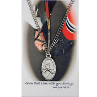 """St Christopher Boys Hockey Sports Medal with 24"""" Chain and Prayer Card"""