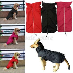 Waterproof Pet Dog Puppy Coat Jacket Clothes Fleece Lined Vest Clothing  #cn
