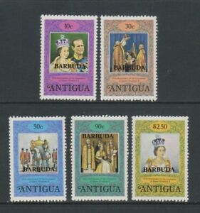 Barbuda - 1978, Coronation set - MNH - SG 415/19
