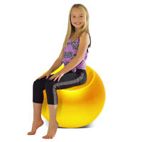 Outdoor Living Room Patio Night Club Bar Cocktail Kid Pouf Chair Ball Seat YLW