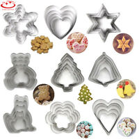 5pcs Stainless Steel Biscuit Pastry Cookie Cutter Fondant Cake Decor Mould Tools