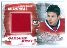 """CAREY PRICE """"RED GAME USED JERSEY CARD"""" FOREVER RIVALS CANADIENS"""