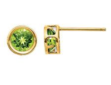 1.10 Carat (ctw) Peridot Earrings 5mm 14K Yellow Gold