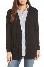 NEW Halogen® Relaxed Pocket Cardigan in Black - Size L