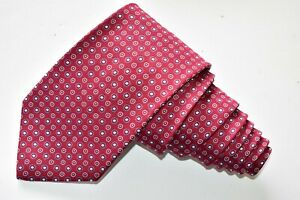"""BROOKS BROTHERS MAKERS DOTS/RED Men's Neck Tie W: 3 3/4"""" by L:60"""" NEW"""