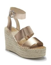 Dolce Vita Shae Wedge Espadrille Sandals - Women's Size 8.5 - Rose Gold