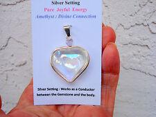 Angel Aura Aura Quartz+Amethyst Twin Heart Pendant-Great Gift!