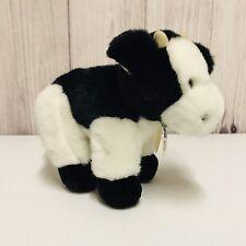 Vintage 1992 Mary Meyer Cow Plush Black White Stuffed Animal