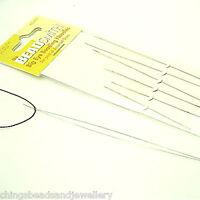 Beadsmith A Pack of 6 Big Eye Beading Needles Assorted Sizes UK SELLER