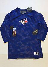 Nike Pro Toronto Blue Jays Hypercool 3/4 Fitted Training Shirt 875854 Mens L