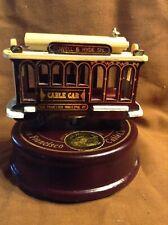 San Francisco Cable Car Turn Table Music Box