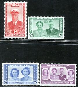 Bechuanaland 1947 King George VI Royal Visit MH aXF SG#132-135 Complete