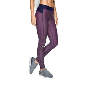 Under Armour Womens HG Printed 1297911 Leggings Navy/Red XS