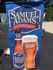 "Samuel Sam Adams Vertical Banner 35""x16"" Rare! Boston Lager Banner - Collectible"