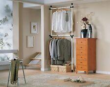 SoBuy® Telescopic Wardrobe Organiser,Clothes Hanging Rail Unit, FRG109,UK