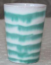 Gmundner Keramik Trinkbecher, grüngeflammt, gebraucht (altes Gmundner)