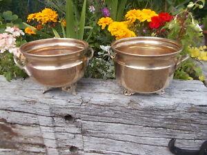 Lovely French Vintage Round Brass Garden Plant Pot Trough Jardiniere YR1/16,17