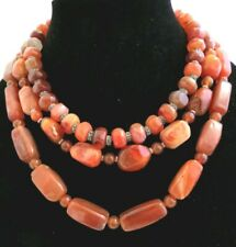 AGATE STATEMENT NECKLACE - 3 STRAND