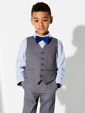 New John Lewis Heirloom Boys' Pinspot Waistcoat, Grey, Age 3, RRP £16