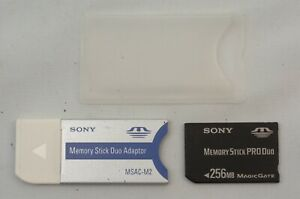 @ Ship in 24 Hours @ Sony Memory Stick Duo Adaptor MSAC-M2 + Pro MSX-M256S 256MB