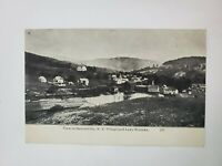 1907 Halcottsville New York NY Birds Eye View Lake Wanaka Postcard
