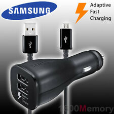 GENUINE Samsung Dual USB Car DC 11-30V Adaptive Fast Charger f Galaxy S8 S9 S10