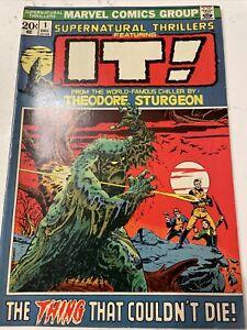Supernatural Thrillers 1 Marvel Comics 1972 Horror IT