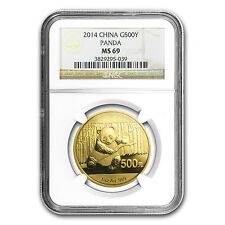 2014 China 1 oz Gold Panda MS-69 NGC - SKU #83634