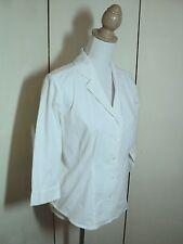 laura ashley white shirt cotton  stretch