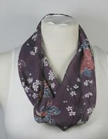 Infinity scarf, purple color theme, chiffon, handmade, great for vacation