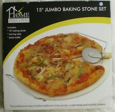 """New listing Home Innovations, 15"""" Jumbo Baking Stone Set, New-In-Box"""