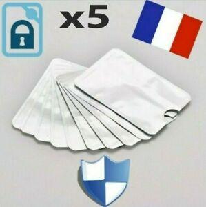 5 pochette étui protection carte bancaire sans contact RFID anti-piratage 2021
