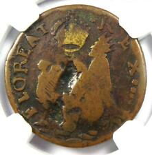 1670 New Jersey St Patrick Farthing Colonial Coin 1/4P - NGC VG Details!