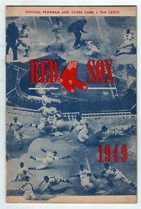 1949 BOSTON RED SOX New York Yankees PROGRAM Fenway Park TED WILLIAMS Rizzuto