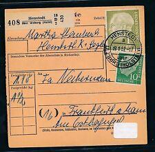 94085) Paketkarte Heuss, MiF 110PF Henstedt ü Ulzburg - Frankfurt (M)