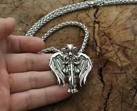 Saint Michael Archangel Wing Gabriel Faith Cross Angel Necklace Pendant Viking